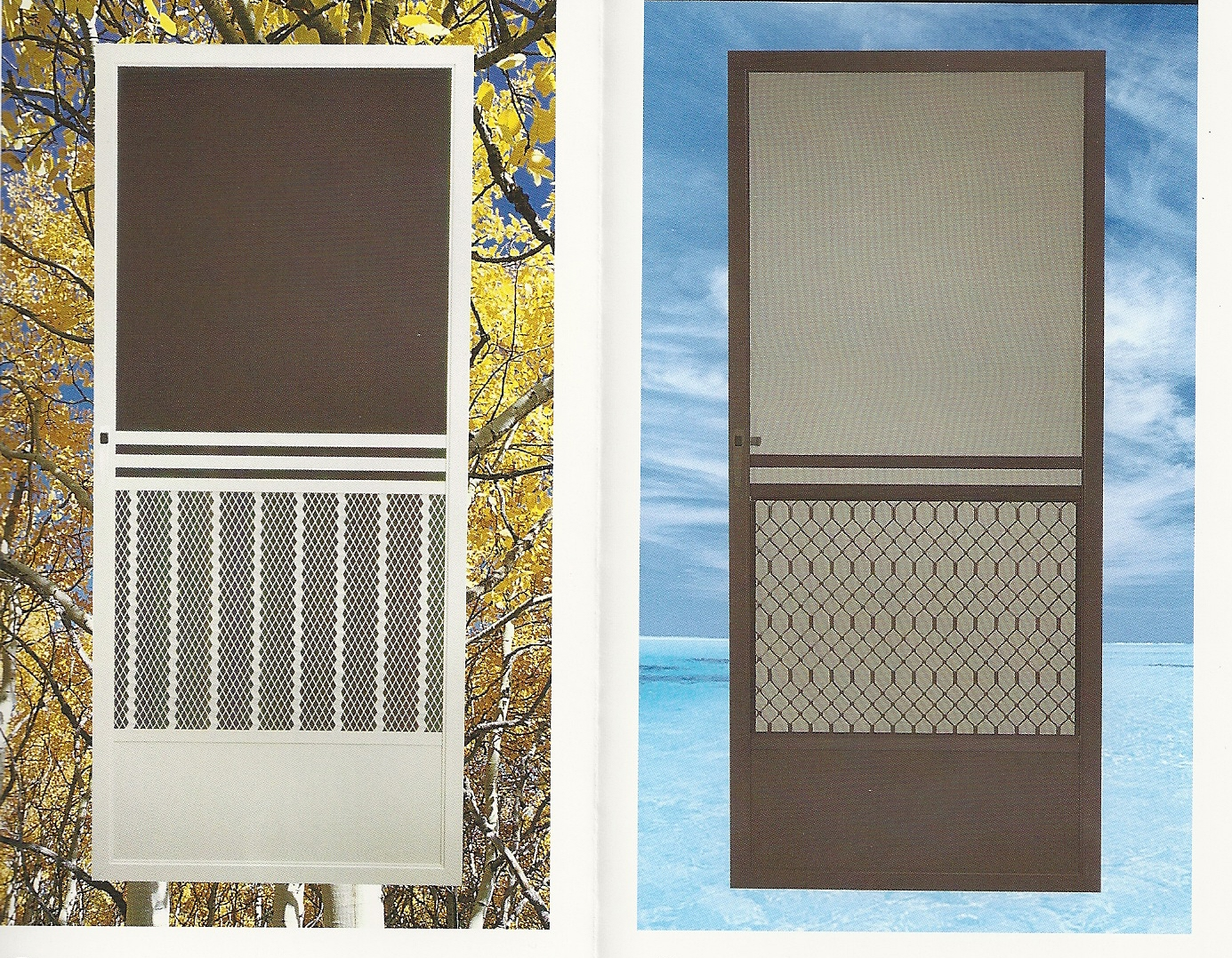 In any of the above screen doors the mesh type can be upgraded. All doors come standard with fiberglass screen mesh. We offer many options like Pet Screen ... & scan0009.jpg