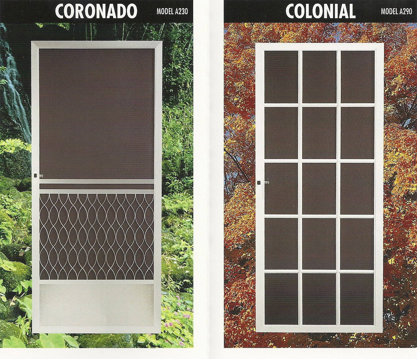 all doors come standard with fiberglass screen mesh we offer many options like pet screen super screen aluminum wire solar screen and more